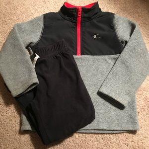 Carter's 1/2 Zip Fleece Pullover & Fleece Pants 4T
